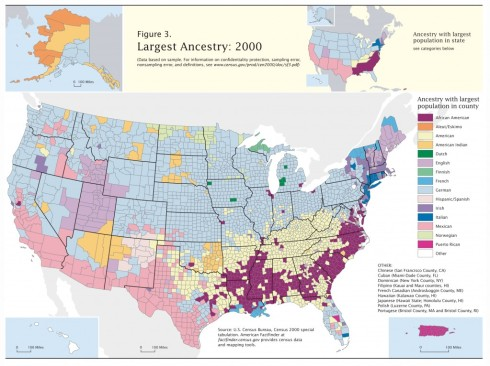 US Census Ancestry by County