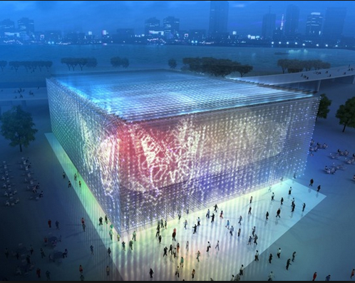 shangai expo center, lights