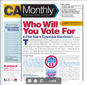 columbia association monthly newsletter, village elections