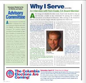 columbia association, why i serve, tom coale