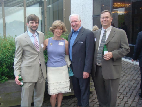 Ian, Me, Dennis and Bill at a Columbia Foundation party several years back.